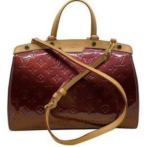 louis vuitton brea vernis mm burgundy patent leath